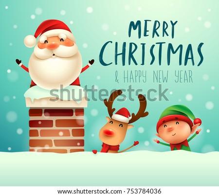 merry christmas  santa claus in
