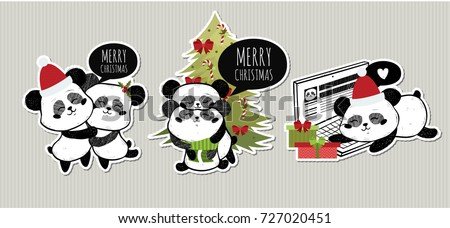 merry christmas set  with