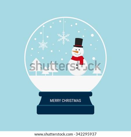 merry christmas snow globe with ...