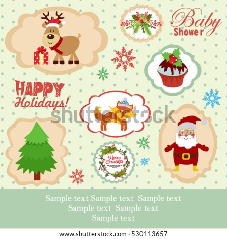 Merry Christmas stickies and labels
