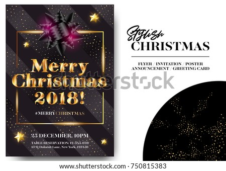 stylish christmas celebration invitation template design download