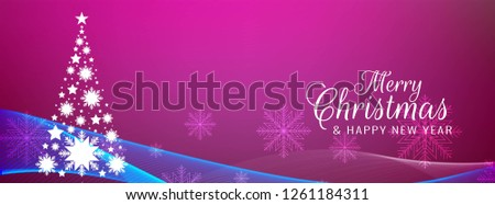 Merry Christmas stylish pink banner template