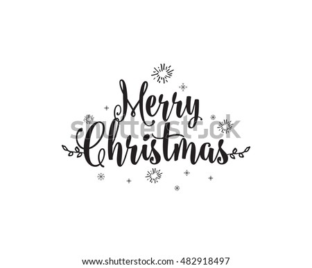 merry christmas text design vector logo typography usable as banner greeting card - Merry Christmas Logos