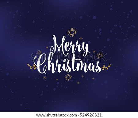 merry christmas text design vector logo typography usable as banner greeting card - Images Merry Christmas