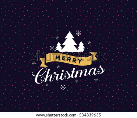 merry christmas text design vector logo typography usable as banner greeting card - Christmas Logo