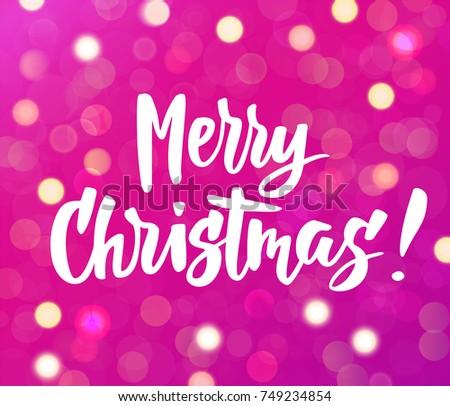 merry christmas text  hand