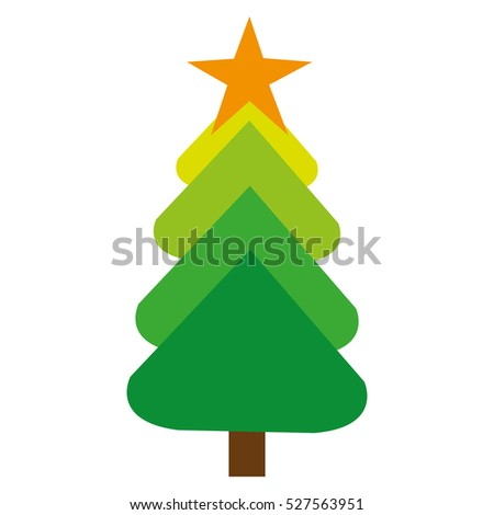 merry christmas tree celebration #527563951