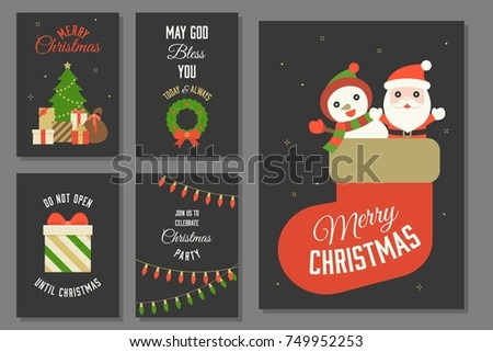 merry christmas typography and