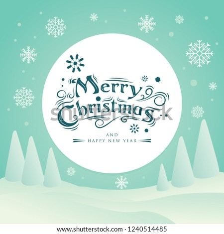 Merry Christmas Typography Typography Background