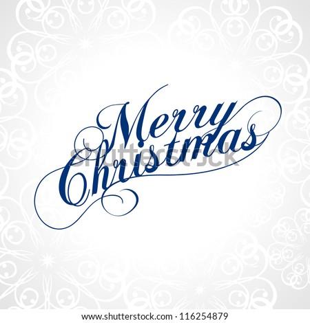 Merry Christmas Vector.
