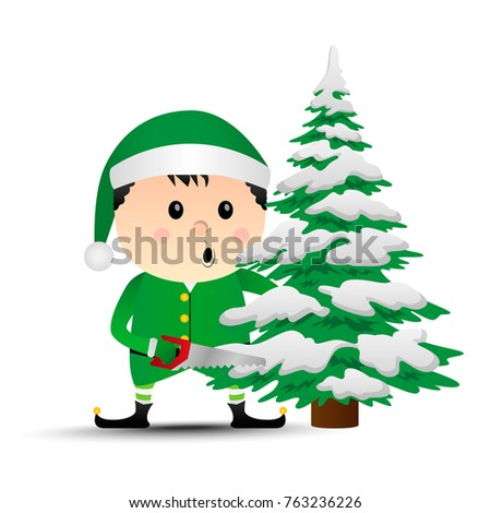 merry christmas vector elf