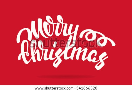 Merry Christmas vector illustration. Modern calligraphy