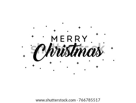 Merry Christmas Vector Text Background