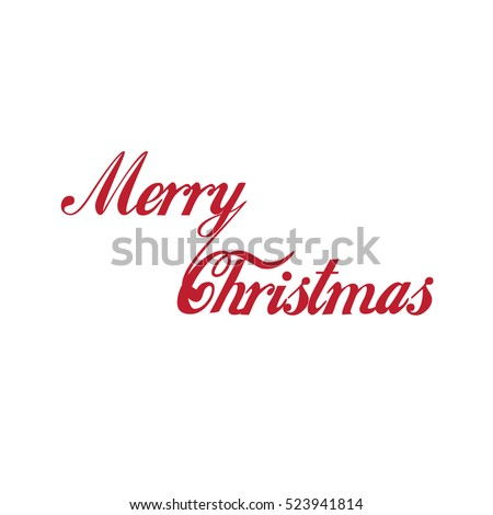 Merry Christmas vector text Calligraphic Lettering design card template. Creative typography for Holiday Greeting Gift Poster. Calligraphy Font style Banner