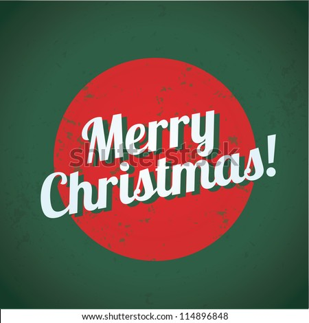 Merry Christmas vintage sign - stock vector