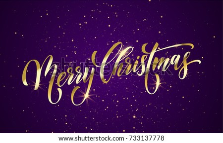 premium merry christmas sparkles greeting card design download