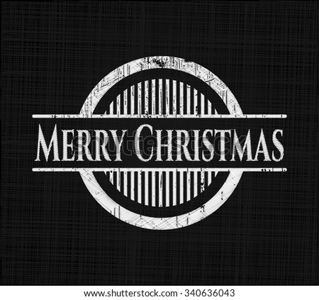 Merry Christmas with chalkboard texture