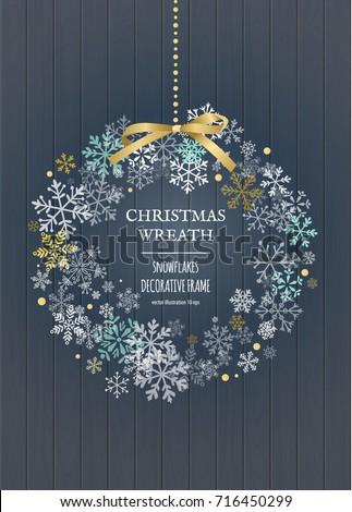 merry christmas wreath  new