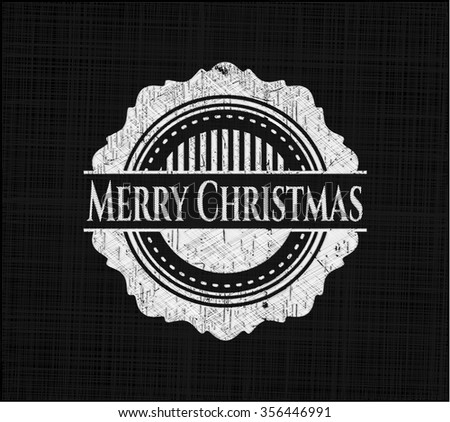 Merry Christmas written with chalkboard texture