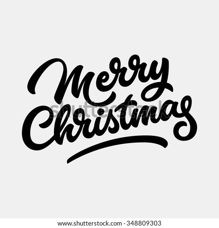 Merry Christmas, xmas badge with handwritten lettering, calligraphy with light background for logo, banners, labels, postcards, invitations, prints, posters, web, presentation. Vector illustration.