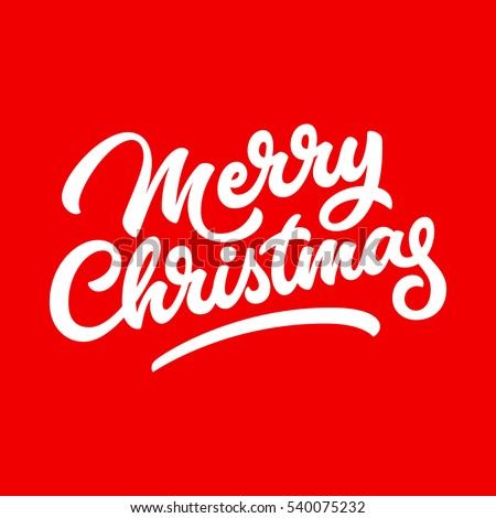 Merry Christmas, XMAS lettering, handwritten calligraphy for logo, design concepts, banners, badges, labels, postcards, invitations, prints, posters, web. Vector illustration.
