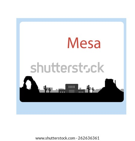 mesa arizona  skyline detailed