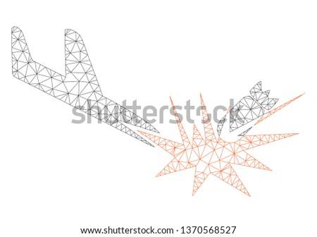 mesh aircraft bomb explosion