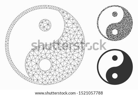 mesh yin yang model with