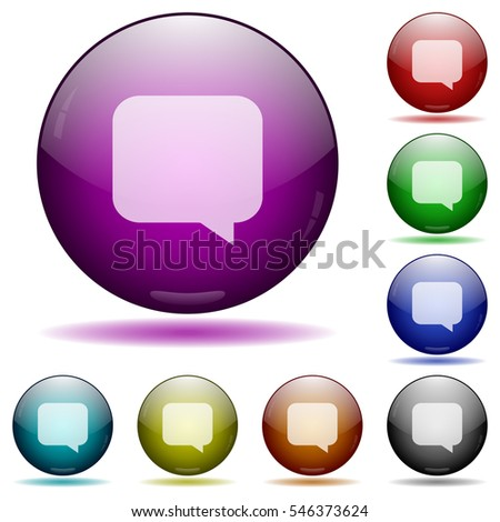 message bubble icons in color