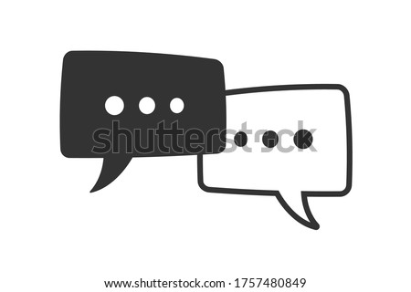 message bubbles icon black and