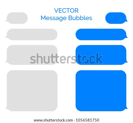 message bubbles vector icons