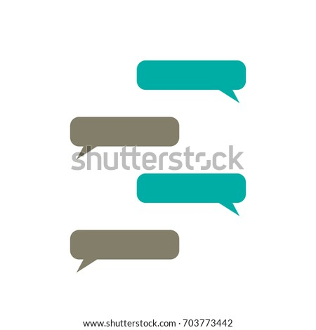 message bubbles vector  text box  chat