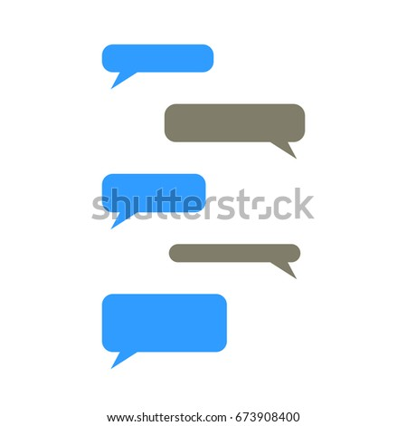 message bubbles with place for text  chat text boxes vector