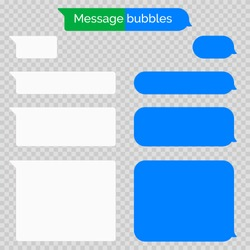 Message chat bubbles vector icons for messenger. Vector design template for message chat