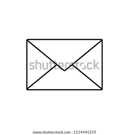 message concept line icon. Linear message concept outline symbol design. This simple element illustration can be used for web and mobile.