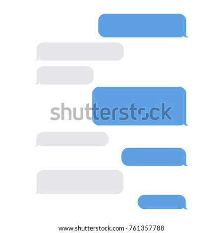 Message empty bubbles. Web creative tools to express ideas or communicate with friends and family. Vector flat style cartoon illustration isolated on white background
