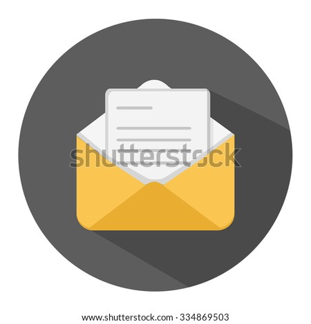 message flat icon