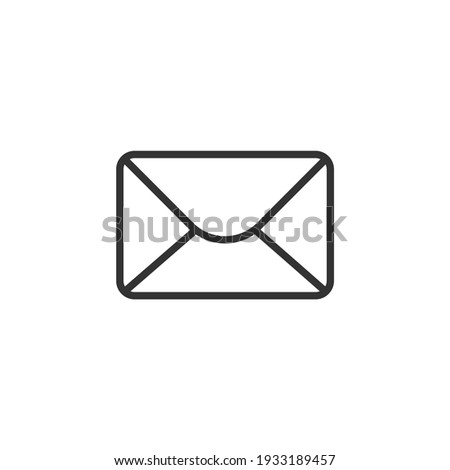 Message Icon. Email or News Illustrations - Vector, Sign and Symbol for Design, Presentation, Website or Apps Elements.
