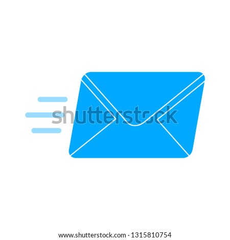 message icon, envelope illustration - vector mail delivery icon, send letter isolated. communication icon