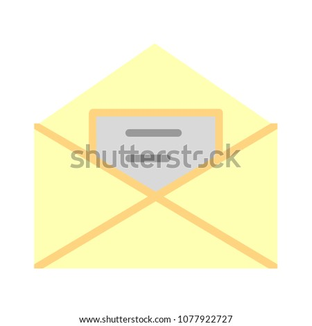 message icon, envelope illustration - vector mail icon, send letter isolated