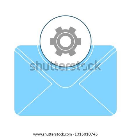 message icon, envelope illustration - vector mail setup icon, send letter isolated. communication icon