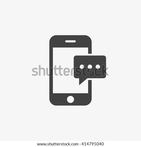 Message Icon in trendy flat style isolated on grey background. Sms symbol for your web site design, logo, app, UI. Vector illustration, EPS10.