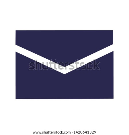 message icon, vector message illustration, message sign