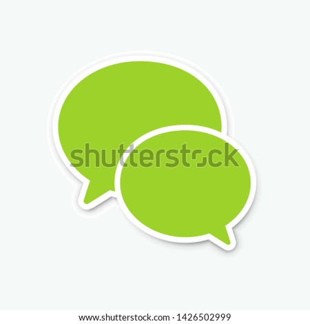 Message isolated on white background. Messenger blank. WeChat vector icon. Message icon. Vector illustration