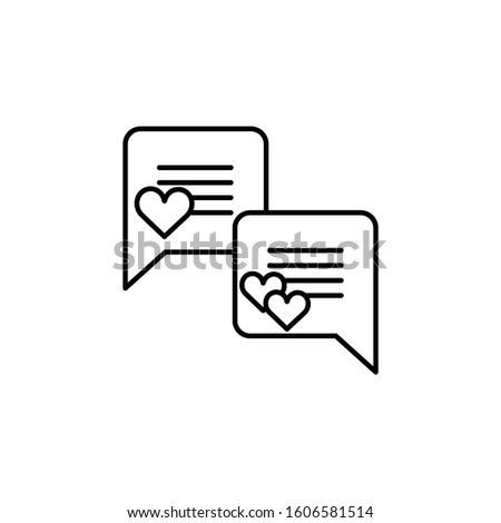 message, message love line icon. Elements of valentines day illustration icons. Signs, symbols can be used for web, logo, mobile app, UI, UX
