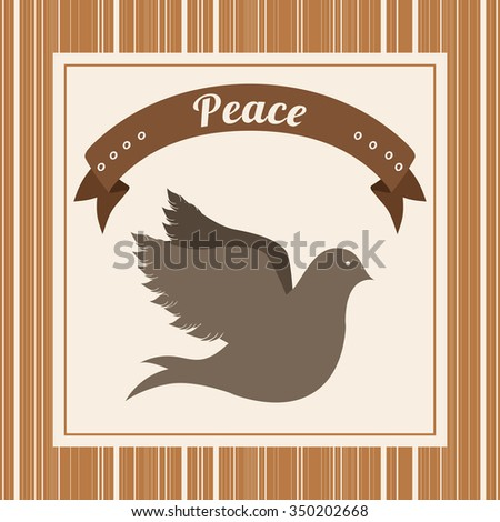 message of peace design, vector illustration eps10 graphic