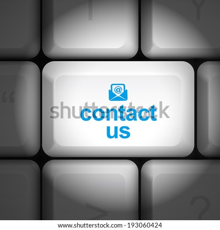message on keyboard enter key, for contact us concepts