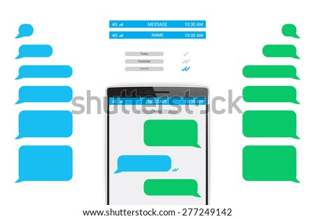 Shutterstock Message Phone Template