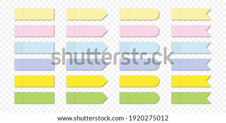Message sticky note sticky stickers. A sticky note with a flat color. Vector post paper sticky tape with template shadow
