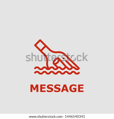 Message symbol. Outline message icon. Message vector illustration for graphic art.